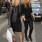 Kate Moss and Stella McCartney linked arms as they shopped in Paris.