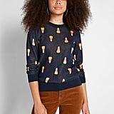 Candy Corn Intarsia Sweater
