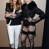 Madonna hung out with Celine Dion.