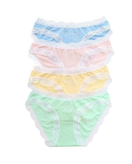 How adorable is this Shopbop Cheek Frills The Dream Panties Set ($50)? It's like four gifts in one.