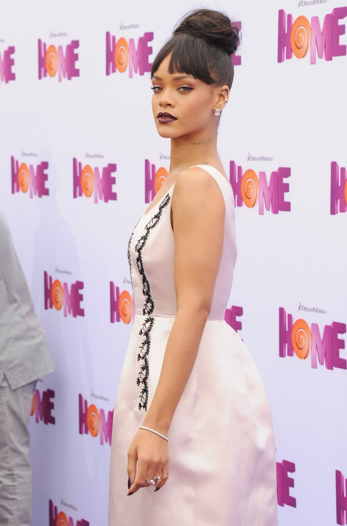 Rihanna Wearing a Dior Dress at the Home Premiere 2015