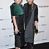 Mary Kate and Ashley Olsen Work YSL for the Gala Premiere Of Le Comte Ory