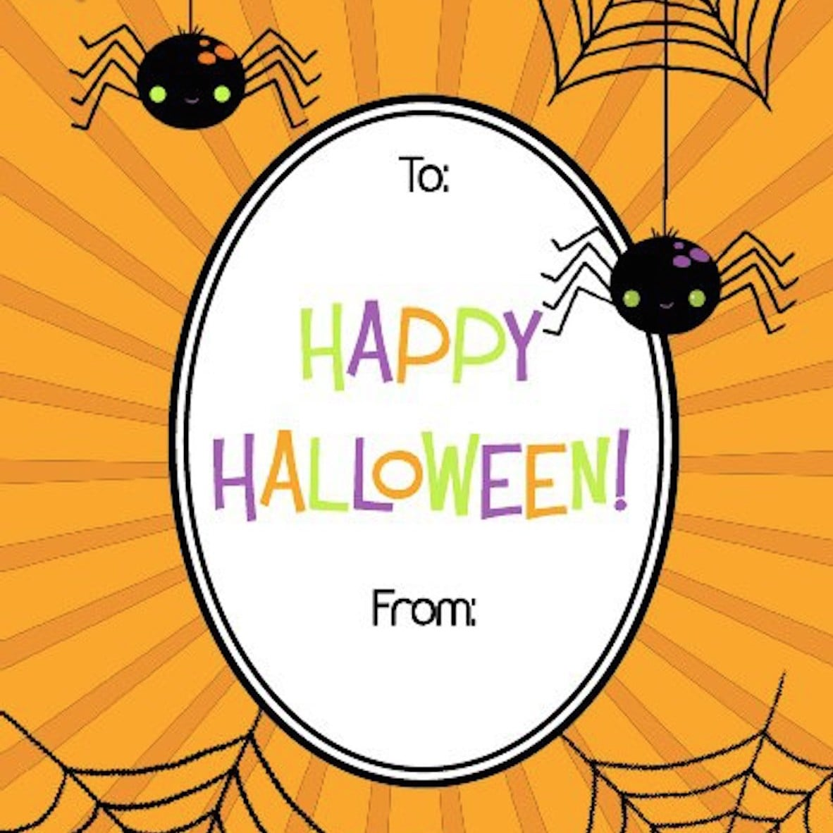 picture regarding Printable Holloween referred to as Totally free Printable Halloween Reward Tags POPSUGAR Wise Residing