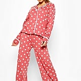 Polka Dot Button Through Pajama Pants Set