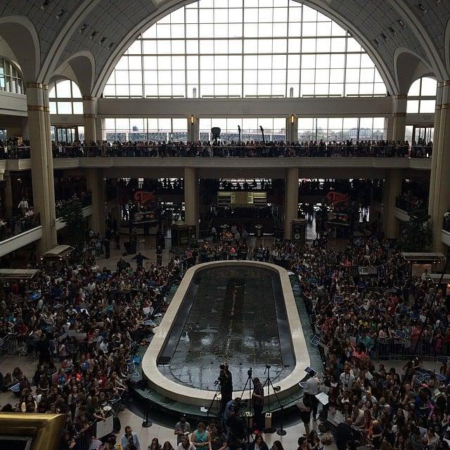 Hello Cleveland! #tfiostour #tfiosoh it's almost time! Source: Instagram user POPSUGAR