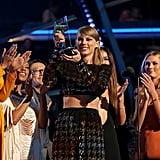 Taylor Swift Accepting an Award at the 2015 VMAs