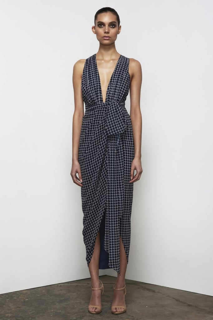 I love the unexpected silhouette this Shona Joy La Nina Crossover Plunged Maxi ($380) dress takes, and personally, I'm having a major gingham moment. Next step: investing in a similarly checked one-piece swimsuit! — Sarah Wasilak, assistant editor