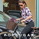 Pippa Middleton Was Seen Wearing a Plaid Shirt and Black Jeans