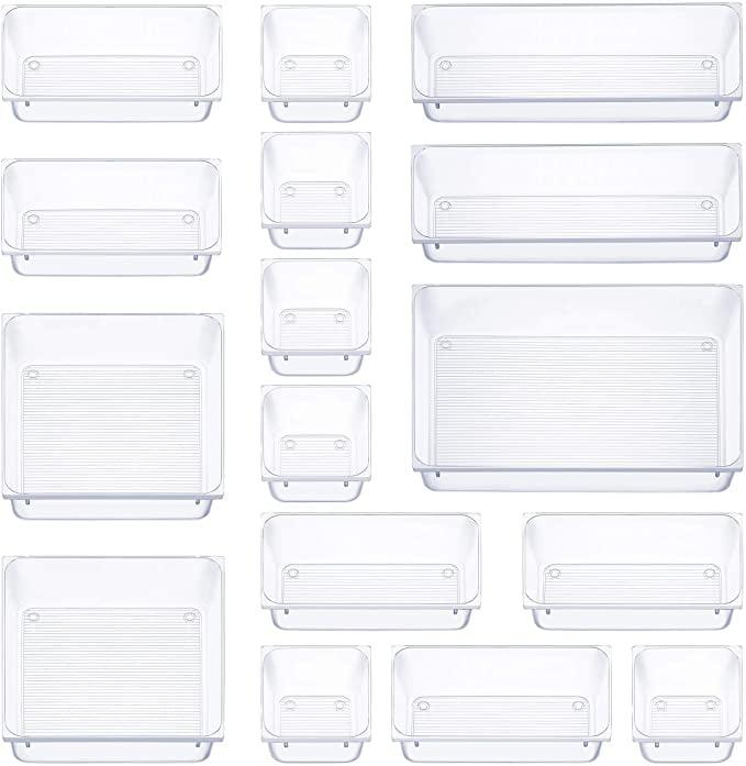 16 Pcs Drawer Organiser Set