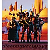 Limited edition print for Star Wars Celebration V of Ralph's painting of the bounty hunters on Cloud City.  Source: Ralph McQuarrie Facebook