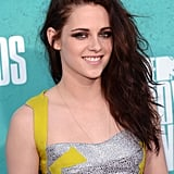 Kristen Stewart chose a metallic mini for the 2012 MTV Movie Awards.