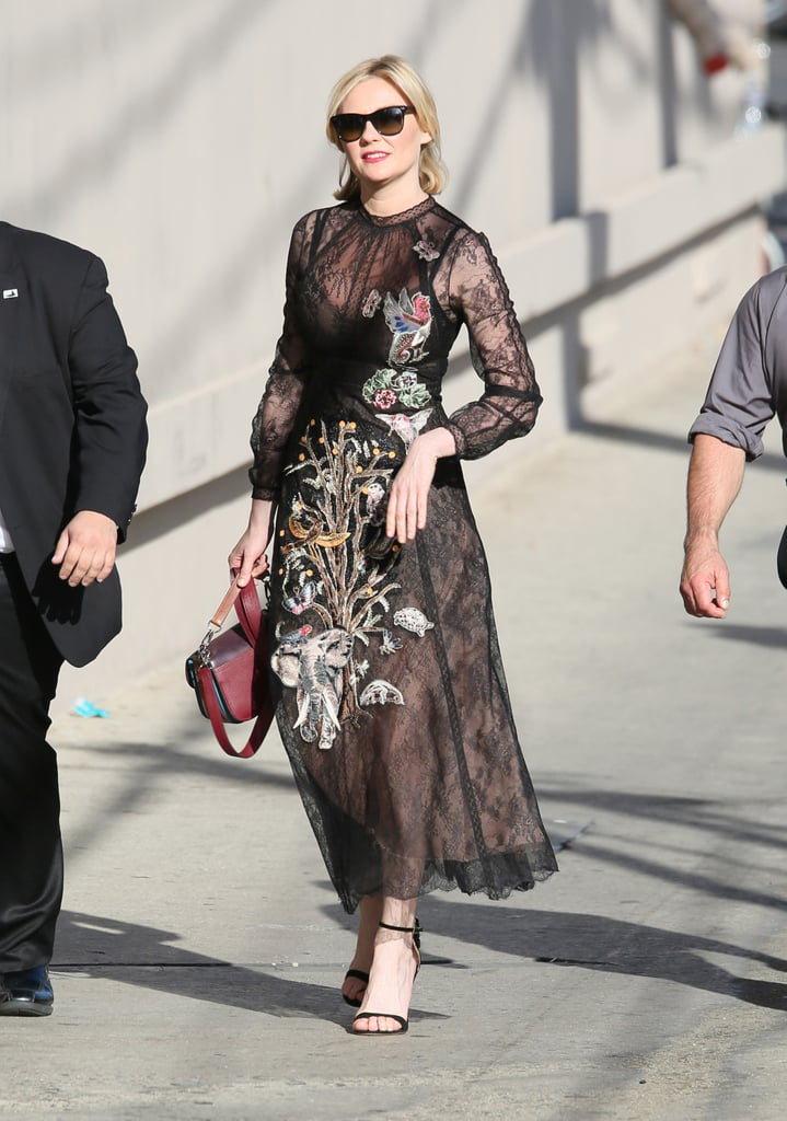 Kirsten Dunst's Dress on Jimmy Kimmel Live March 2016