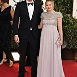 Kristen Bell arrived with sweetheart Dax Shepard Sunday night in Beverly Hills for the Golden Globes.