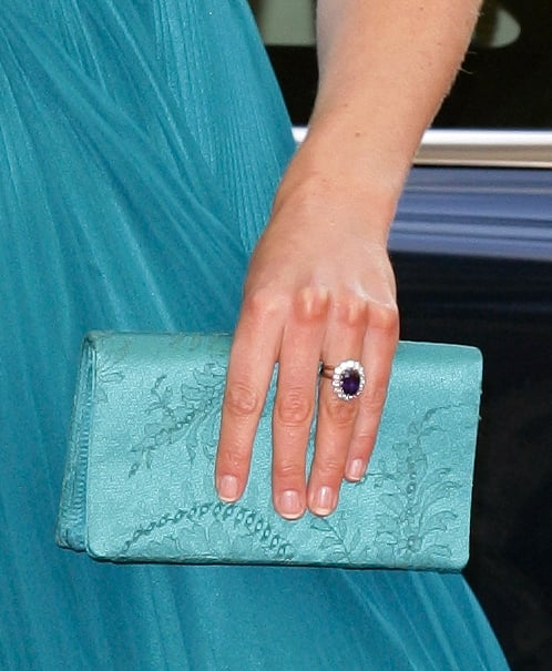 The Duchess of Cambridge carried a matching clutch that is said to have been created especially for her by Jenny Packham.