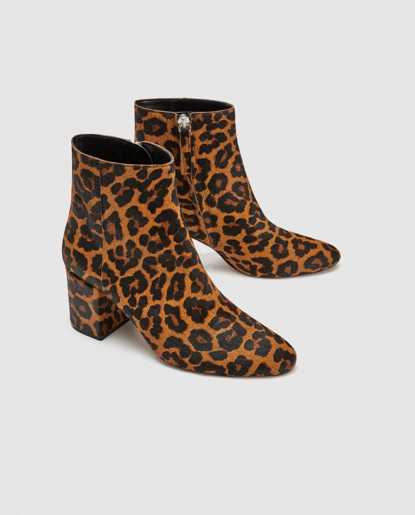 best online look good shoes sale dirt cheap Zara Animal Print Ankle Boots   Gwen Stefani Leopard Boots ...