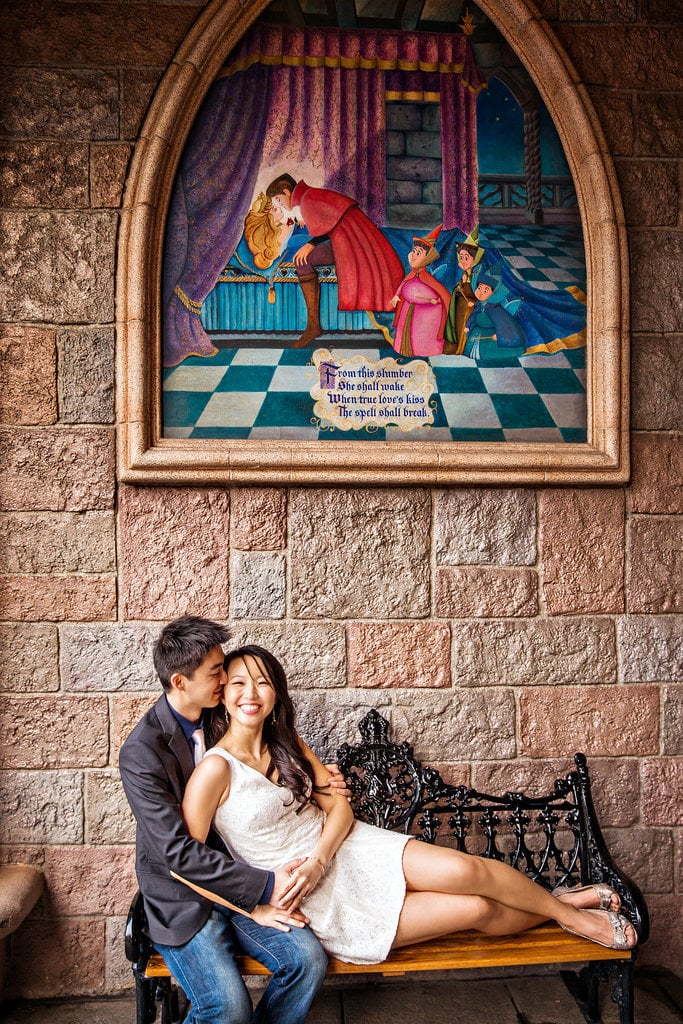 Have a photo shoot at Sleeping Beauty's Castle.