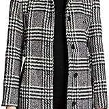 Calvin Klein Belted Plaid Coat