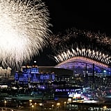 There was an elaborate fireworks show during the opening ceremony.