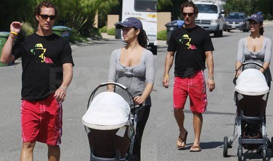 Photos of Matthew McConaughey, Camila Alves, and Levi McConaughey in LA