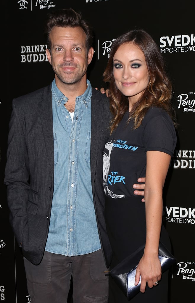 Jason Sudeikis supported his fiancé Olivia Wilde.