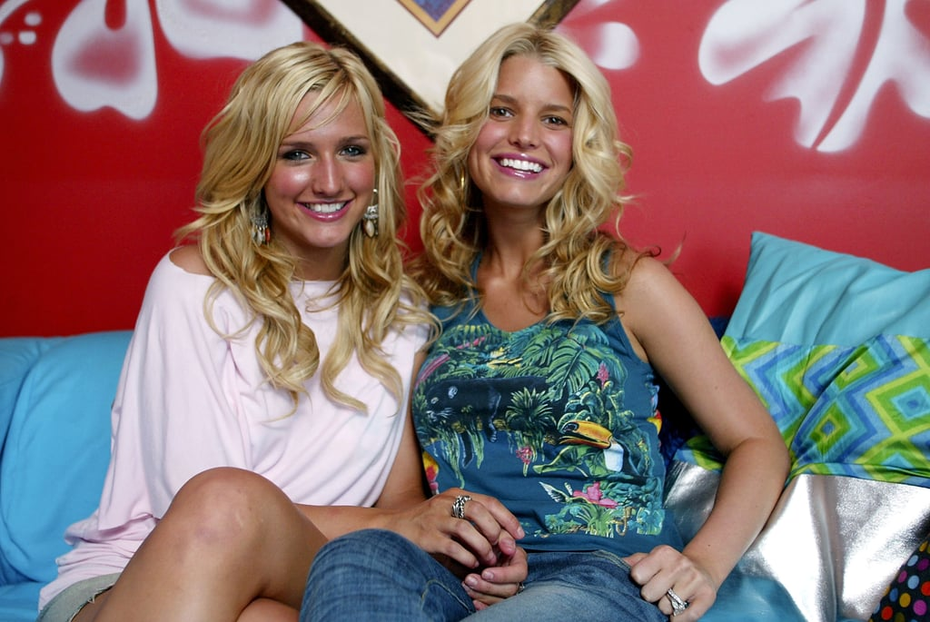Jessica Simpson and her sister, Ashlee Simpson, made a joint TRL appearance in 2003.