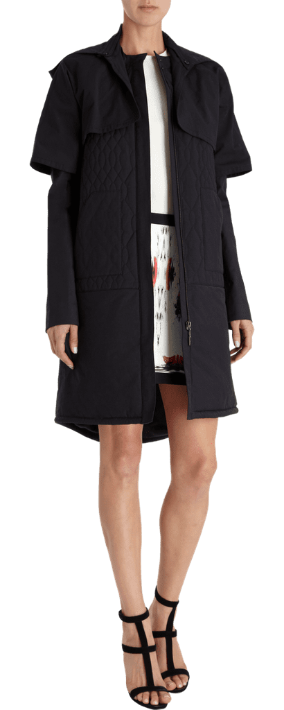 This ICB quilted topcoat ($825) is a cross between Sherlock Holmes and prepster-chic, which roughly translates to, I'm in love with it. — MT