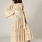 Lisa Marie Fernandez Peasant Natural Gold Eyelet Dress