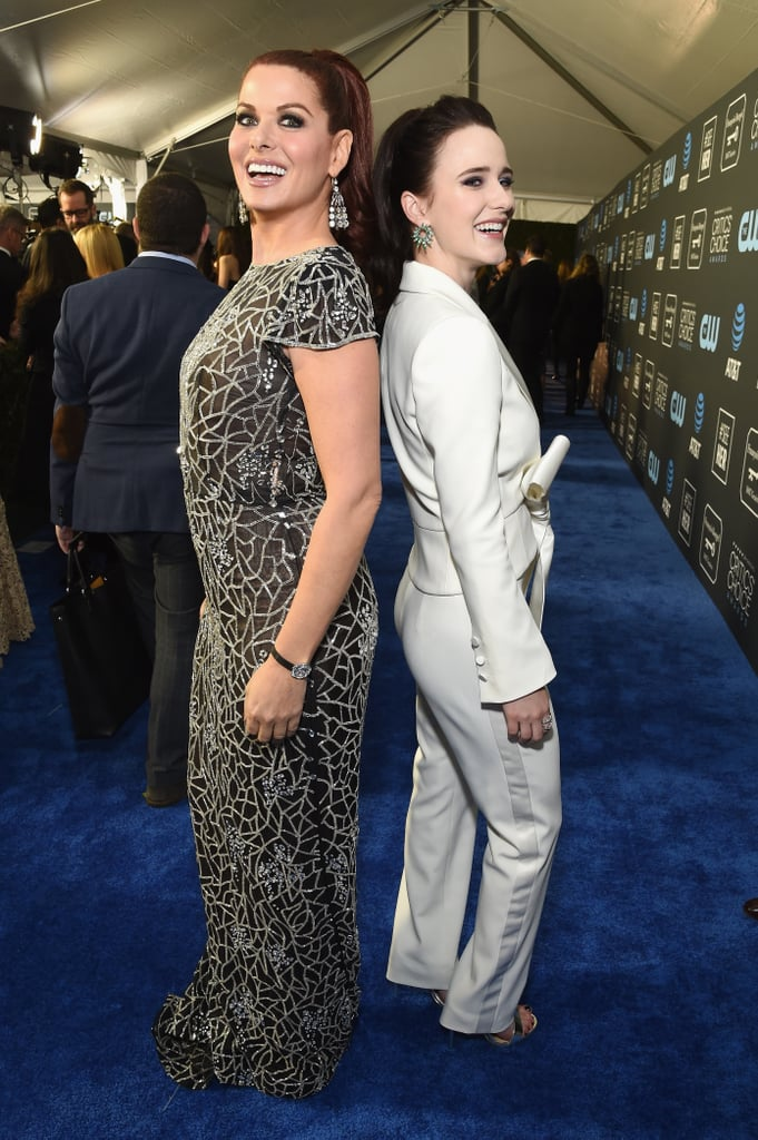 Pictured: Debra Messing and Rachel Brosnahan