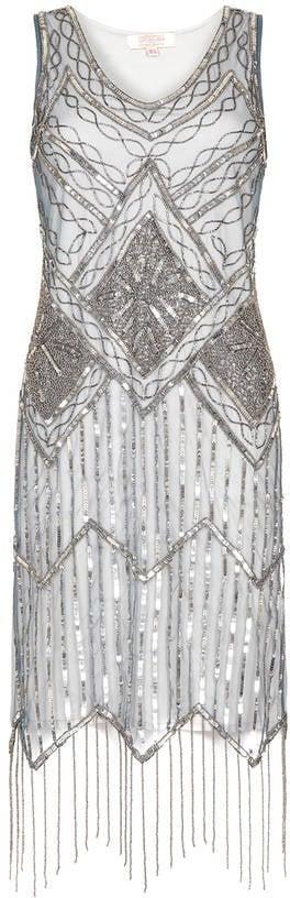 Gatsbylady London Isobel Embellished Fringe Dress (£89)