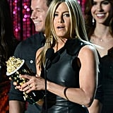 Jennifer Aniston thanked the audience.