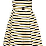 Emily Lovelock Striped Cotton Dress