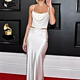 Dua Lipa's White Vivienne Westwood Slip Skirt at the Grammys