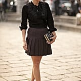 Here's hoping the chic pleated skirt never goes out of style!