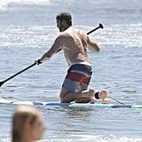 Gerard Butler and Morgan Brown Beach PDA in Malibu | Photos