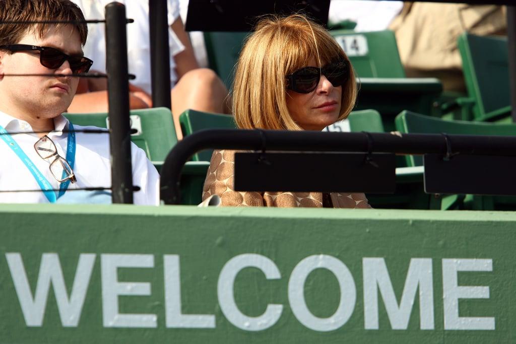 Anna Wintour Follows Federer to Miami