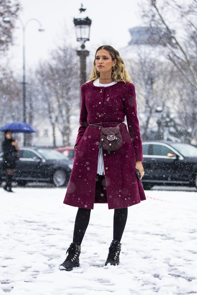 With a Smart Burgundy Coat