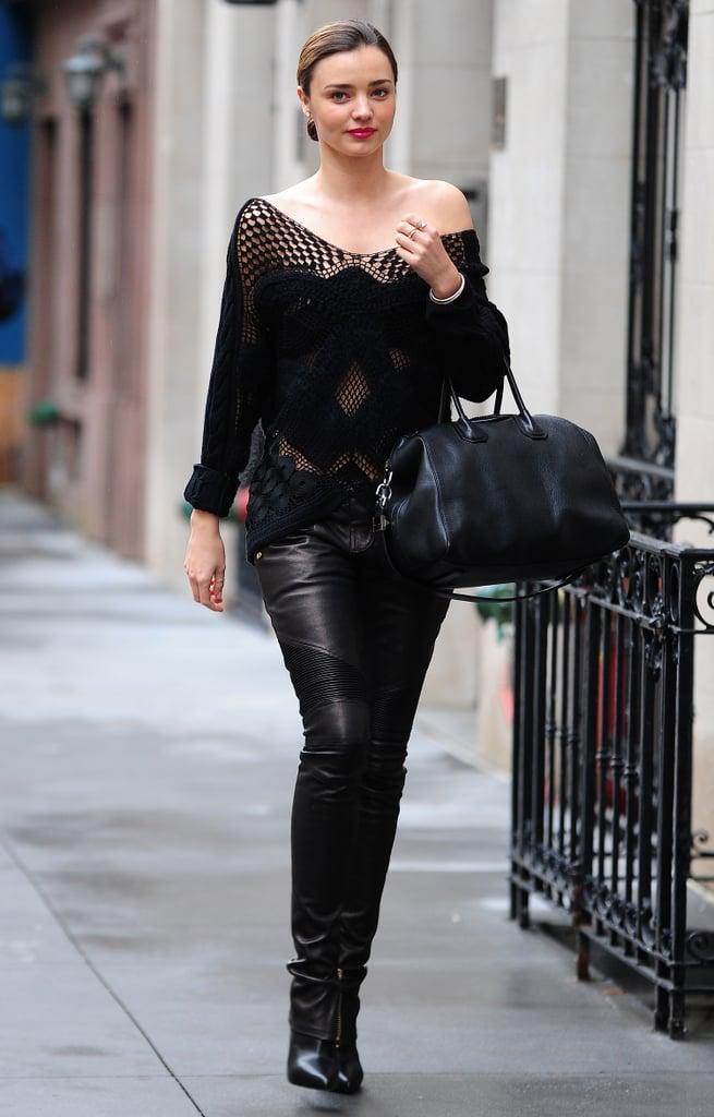 Models Wearing All-Black Outfits | POPSUGAR Fashion