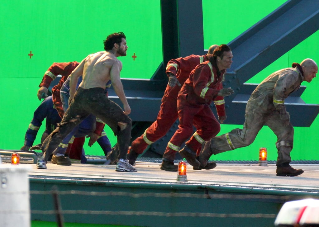 Henry Cavill filmed a scene for Man of Steel in Vancouver.
