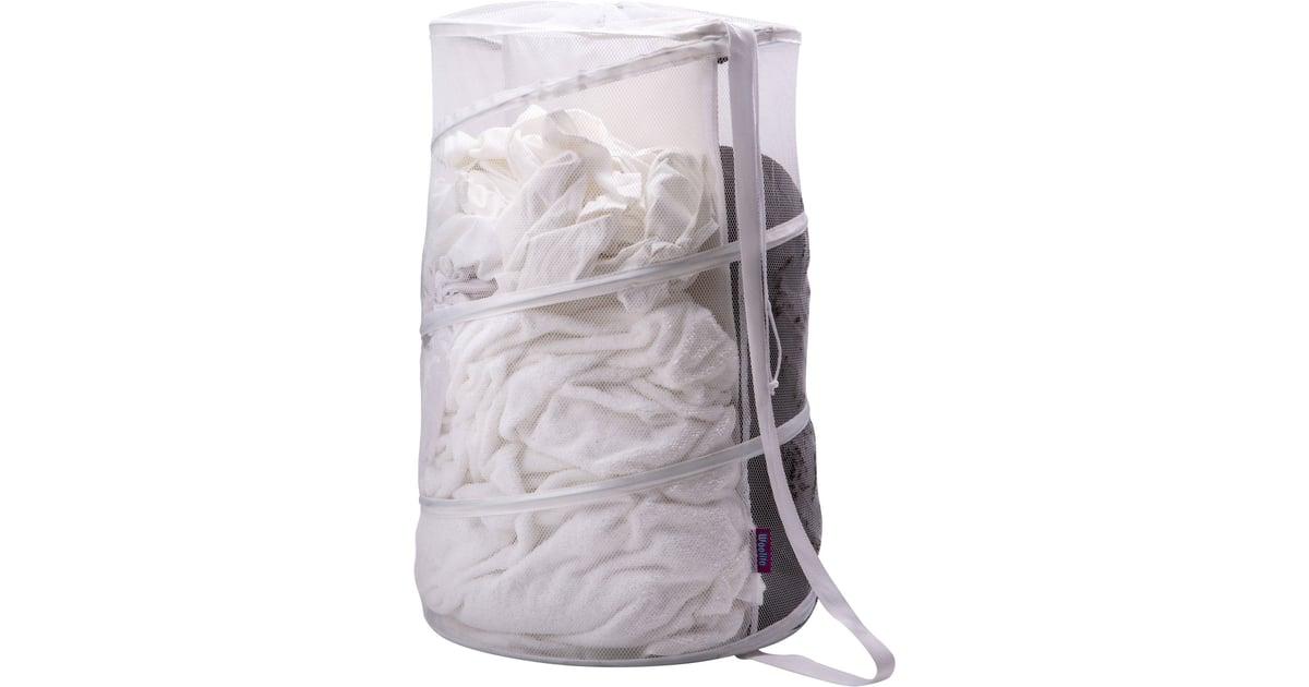 Woolite Sanitized Large Mesh Pop Up Hamper With Divider