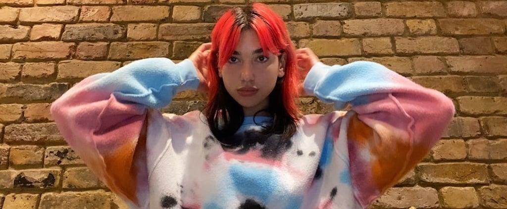 Dua Lipa's Tie-Dye Madhappy Sweatshirt on Instagram