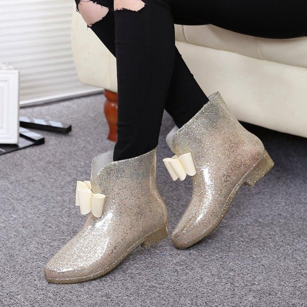 Glitter Rain Boots on Amazon