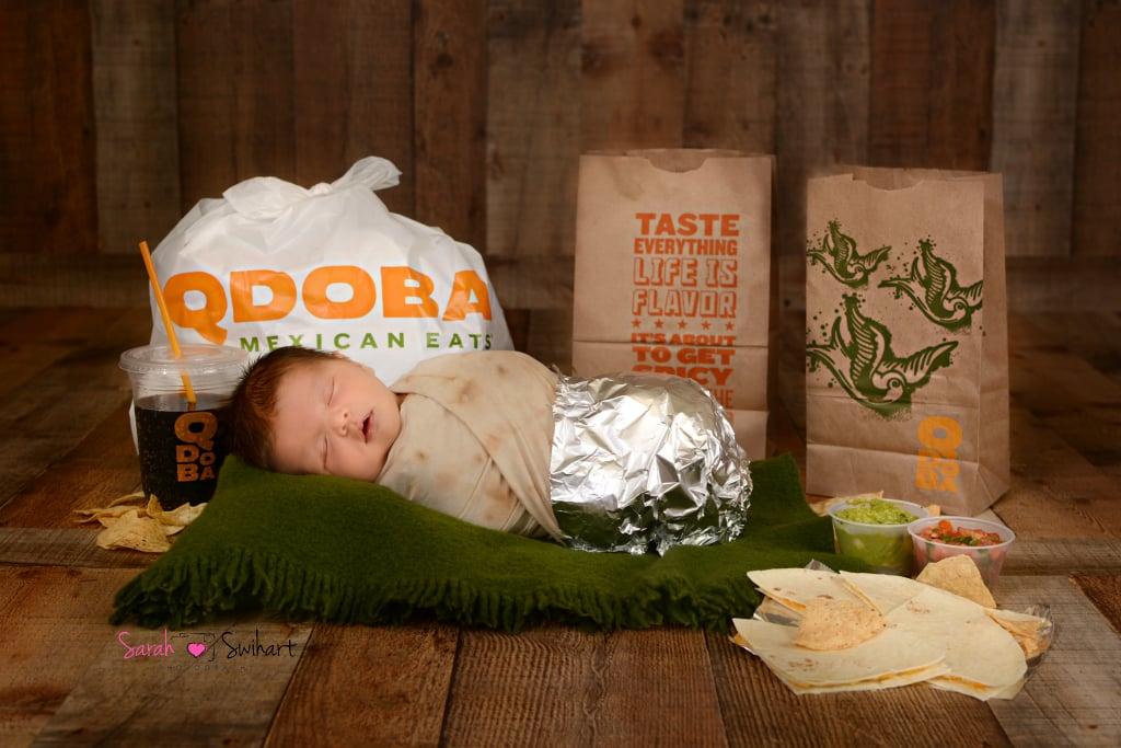 Sebastian's Qdoba-Themed Newborn Photo