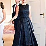 Princess Mary Hosted a Dinner During the Copenhagen Fashion Summit While Wearing a Black Dress
