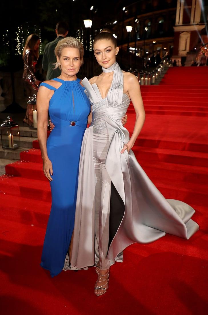 Gigi Hadid And Yolanda Hadid At The British Fashion Awards