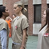"""POPSUGAR: How did you originally end up with the role of Maria? Jessica Pimentel: There wasn't anything really drawing me to Maria, in particular, because all the information I had when I went in for her was that her name was Maria and that she was pregnant in jail. That's all we had. The breakdown was: Maria, very pregnant. We knew that the series was going to be in prison, and we knew who was behind it, who was casting it, and some of the people who were coming in. It was very vague. No full scripts, just a couple of scenes that may or may not end up in the show. PS: This season, Maria not only gets a backstory, but she's really fleshed out as a character. We see her go from the background of Litchfield to the leader of the Dominican inmates in the prison. Did your personal heritage have an affect on how you approached playing her in season four? JP: Absolutely. My parents came to the US in the late '60s, early '70s, as children themselves. My mom came here when she was 12, turning 13. Dominicans are very proud people, and I wouldn't say that my personal story matches Maria's in any way, but there is that same sense of national pride. When she says, """"Everything tastes better over there"""" and that """"It doesn't taste the same here,"""" I find that my aunts and uncles all say that. Like the beer Presidente tastes better back home. So that was a really cool thing for me. Dominican pride is very strong in our culture.  PS: Was your character Dominican from the get-go, or did they add that into her story when they learned that you were, too? JP: Maria was Latin, but we didn't know too many details. I was like, """"How old am I?"""" and they'd be like, """"I don't know, how old are you? Your age?"""" Then I'd ask them, """"Am I Dominican? Puerto Rican?"""" I really didn't know, until things were eventually fleshed out in the writers' room. There would come points where I would have to ask, """"Am I Columbian? Am I Mexican? Am I half Mexican? Half black? Half white?"""" From [Maria]'s age to where sh"""