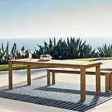 Playa Outdoor Expandable Dining Table and Benches Set