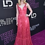 Elle Fanning Wearing a Rodarte Dress at the Teen Spirit Premiere in Hollywood