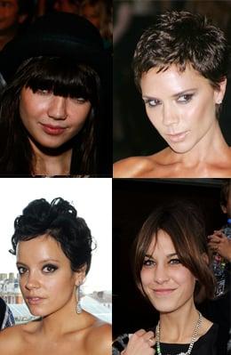Photos of Victoria Beckham, Lily Allen, Alexa Chung, Daisy Lowe. New Hair Cut Style. Do You Copy Celebrity Hair Trends?