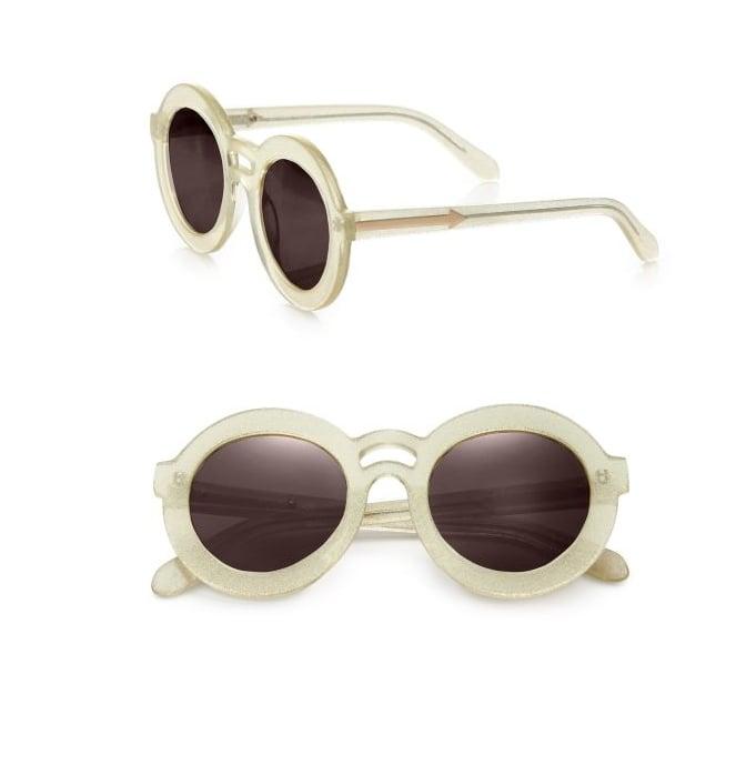 Karen Walker Joyous Plastic Round Sunglasses/Gold Mirror ($250)