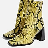Topshop Hurriance Neon High Ankle Boots